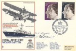1972 Silver Wedding, Royal Air Force Mountbatten Official FDC, Celebrating the Royal Silver Wedding BF 1307 PS H/S, Signed.