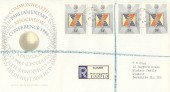 1986 Parliamentary Conference, Registered Royal Mail FDC, Windsor Castle Windsor Berks. cds.