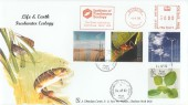 2000 Life & Earth, Phil Sheridan FDC, Institute of Freshwater Ecology Meter Mark, with Freshwater Isle of Wight cds.