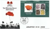 2008 Lest We Forget, Phil Sheridan Official FDC, The Western Front Association Stockport H/S.