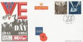 1995 VE Day, Daily Mirror, British Legion FDC, First Day of Issue London EC4 H/S.