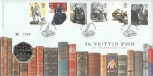 2005 Jane Eyre, The Written Word & The Printed Page, Royal Mint FDC, 50p Coin, Hay on Wye Hereford H/S.