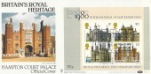 1978 Historic Buildings Miniature Sheet, Benham BOCS 2d Official FDC, Royal Heritage Hampton Court Palace H/S.