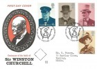 1974 Winston Churchill, Benham Engraved, First Day of Issue Blenheim Woodstock Oxford H/S.