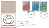 1973 European Communities, Post Office FDC, Harrow & Wembley cds, Posted Wembley Football Match Britain V EEC Countries Cachet.