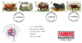 1984 British Cattle, Royal Mail FDC, Overprinted Farmers Guardian Special Issue, Lancashire FDI.