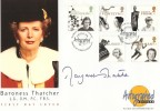 1996 Women of Achievement, Westminster Autographed Edition Official FDC, House of Lords London SW1 H/S, signed by Baroness Margaret Thatcher.