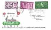1958 Commonwealth Games FDC, Philatelic Traders' Society FDC, British Empire & Commonwealth Games CardiffSlogan