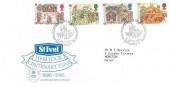 1986 Medieval Life, St. Ivel Hemyock Centenary Year FDC, 900th Anniversary of the Doomsday Survey Exeter Devon H/S.