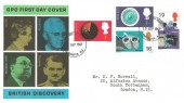 1967 British Discoveries, GPO FDC, Paddington W2 FDI.