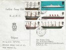 1969 British Ships, Emblem Stamp Club RAOC Belgium FDC, Field Post Office 516 cds.