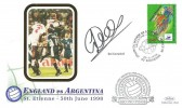 1998 England vs Argentina World Cup St. Etienne, Benham Cover, Coupe Du Monde De Football France 98 St. Etienne H/S. Signed by Sol Campbell.