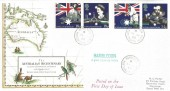 1988 Australian Bicentenary, Royal Mail FDC, Hambledon Portsmouth Hants. cds & Cachet.