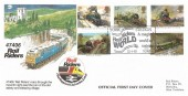1985 Famous Trains, Rail Riders Official FDC, Rail Riders World York Station a Magical World of Trains York H/S