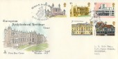 1975 European Architectural Heritage Year, Mercury FDC, 500 Years St. George's Chapel Windsor Berks. H/S.