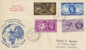1949 Universal Postal Union, Illustrated FDC, Regent Road Salford 5 Lancs. cds