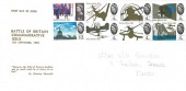 1965 Battle of Britain, Display FDC, Bude Cornwall cds.
