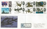 1965 Battle of Britain, Registered GPO FDC, Small Steel Ring Biggin Hill Westerham Kent cds.