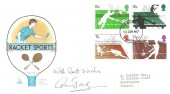1977 Racket Sports, Mercury FDC, London EC FDI, Signed by Ann Jones, Wimbledon winner.