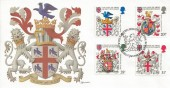 1984 Heraldry, Fleetwood FDC, First Day of Issue Philatelic Bureau Edinburgh H/S.