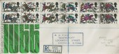1966 Battle of Hastings, Registered GPO FDC, Registered Driffield Yorkshire, Oval cds.