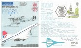 1980 London Landmarks, RAF Museum Official C75 FDC, Supersonically to London 1980 BF 7580 PS H/S. Signed by Concorde Captain Brian Walpole.