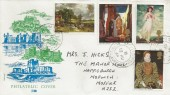 1968 British Paintings, Philart Philatelic Cover, Happisburgh Norwich Norfolk cds.