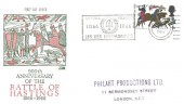 1966 Battle of Hastings, Philart FDC, 4d Only, Les Iles Normandes 1066 - 1966 Jersey Slogan.