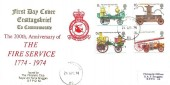 1974 Fire Service, RAF Bruggen FDC, Forces Post Office 62 cds.