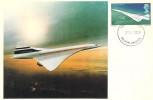 1969 Concorde, Set of 3 Maxicards, Filton Bristol FDI.