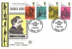 1970 Literary Anniversaries, Wessex FDC, 4 x 5d Charles Dickens Stamps, Dickens Centenary Year Old Curiosity Shop London WC2 H/S.