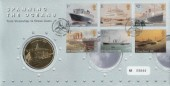 2004 Ocean Liners Royal Mint Official FDC, Spanning the Ocean Southampton H/S