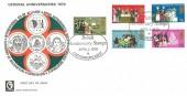 1970 General Anniversaries, Cameo FDC, British Anniversary Stamps Canterbury Kent H/S.