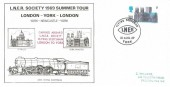 1969 LNER Society Summer Tour London - York - London Cover, Flying Scotsman LNER York H/S.