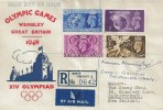 1948 Olympic Games Wembley, Registered Illustrated FDC, Lullington Garth North Finchley N12 cds. Signed by Norman Wainwright.