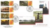2007 Glorious Scotland Generic Sheet, 10 x 1st Class + Labels, Pair of Novic Philatelics FDC, Glorious Scotland Edinburgh H/S.