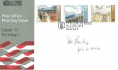 1971 Ulster Paintings, Post Office FDC, First Day of Issue Belfast H/S. Signed by the late Ian Paisley.
