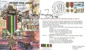 1995 Victory over Japan Commemorative Cover, 50th Anniversary World War II VJ Day Douglas Isle of Man H/S. Signed by Lieutenant Commander Ian Frazer VC.
