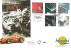 1996 Classic Cars, Westminster Autographed Editions Official FDC, Motor Sport Legends Aintree Liverpool L9 H/S. Signed by Stirling Moss.