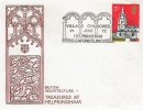 1972 Village Churches, Helpringham  Church Official FDC, 7½p Stamp only, Village Churches Helpringham Sleaford Lincs H/S.