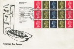 1969 £1 Stamps for Cooks Prestige Booklet, Set of 4 Illustrated FDC's, Milk Marketing Board Thames Ditton Surrey H/S.