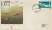 1969 Concorde, Middle East Airlines Airliban FDC, 4d Stamp only, Filton Bristol FDI.