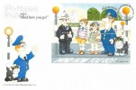 1994 Postman Pat Visits the Isle of Man Miniature Sheet, Isle of Man Post Office, First Day of Issue Douglas H/S.