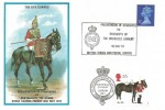 1973 The Life Guards Presentation of Standards to The Regiment of the Household Cavalry, Universal Cover, Doubled with 1997 FDC All the Queen's Horses 26p Lifeguards Stamp, Household Cavalry London SW1.