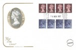 1977 7p & 9p Horizontal Coils, Cotswold FDC, Windsor Berks. H/S