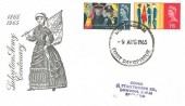 1965 Salvation Army, Illustrated FDC, Nottingham FDI, Birthplace of William Booth founder of the Salvation Army.