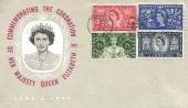 1953 Coronation, Illustrated FDC, Long Live the Queen Slogan Uckfield Sussex.