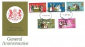 1970 General Anniversaries, GPO FDC, London W1 FDI, Headquarters of the International Co-operative Alliance.