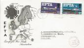 1967 European Free Trade Area, Stuart FDC, Southampton T Cancel.