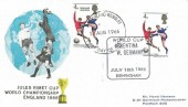 1966 England World Cup Winners, Horst Hamann FDC, World Cup Match 16th July Argentina v W.Germany Birmingham H/S, doubled with England Winners, Harrow & Wembley FDI.
